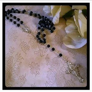 Vintage Purple Bead Rosary
